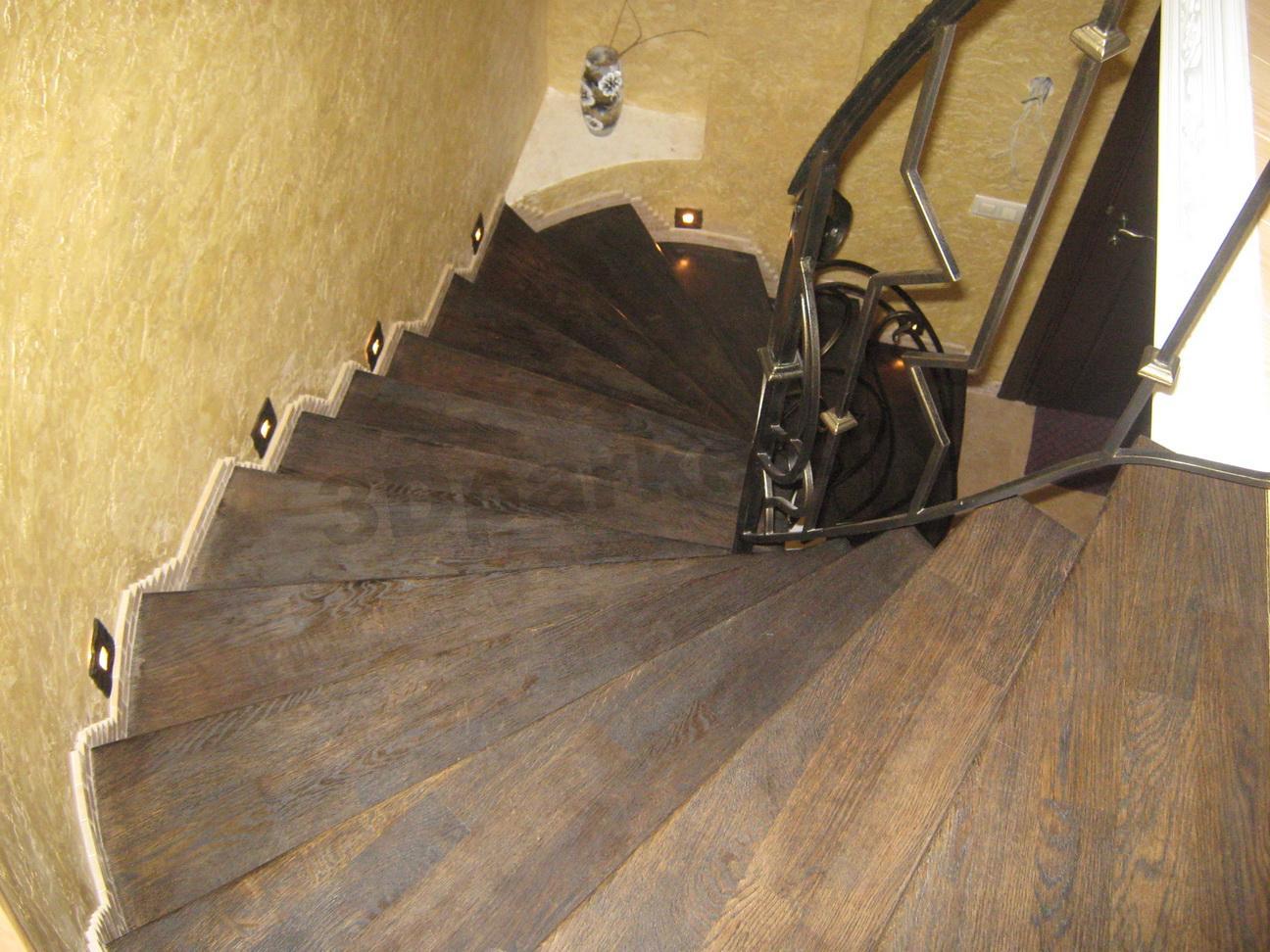 Отделка бетонных лестниц в доме фото 23